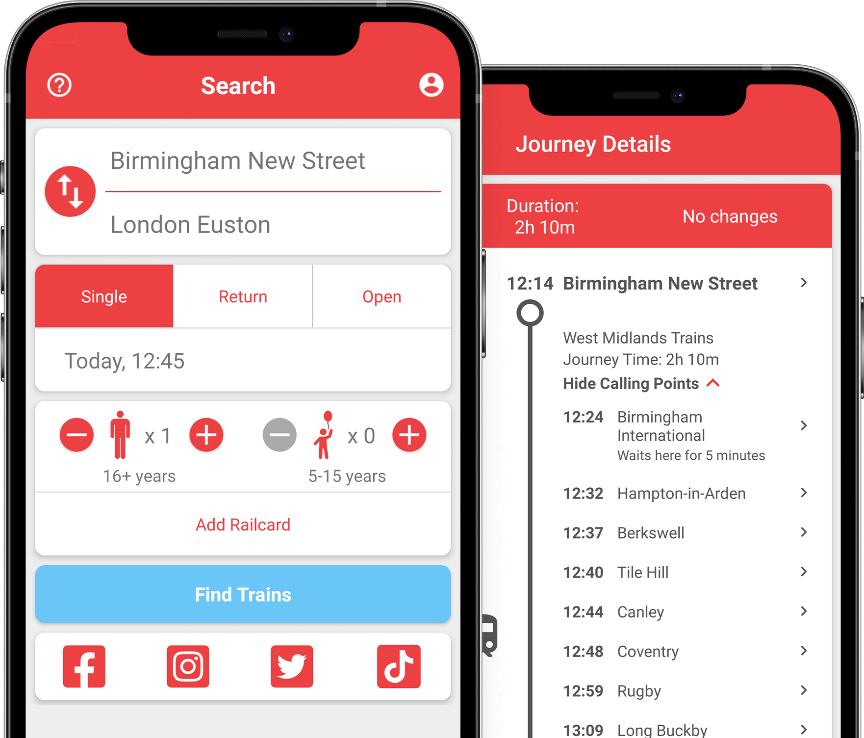 Examples of Mobile App Interface